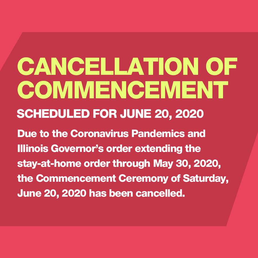 June 20, 2020 Commencement Cancelled Due to Covid19 Stay at Home Order